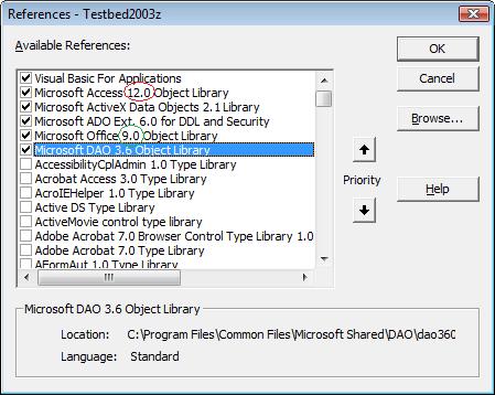References error screenshot